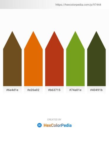 Palette image download - Sienna – Dark Orange – Firebrick – Olive Drab – Dark Olive Green