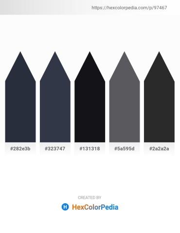 Palette image download - Dark Slate Gray – Dark Slate Gray – Light Slate Gray – Slate Gray – Black