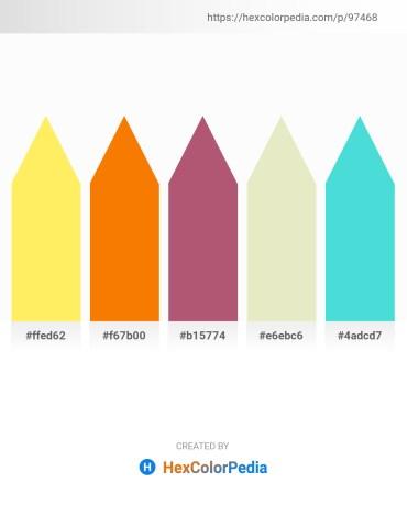 Palette image download - Gold – Dark Orange – Indian Red – Beige – Turquoise