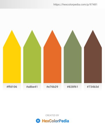 Palette image download - Gold – Yellow Green – Chocolate – Dark Sea Green – Dodger Blue