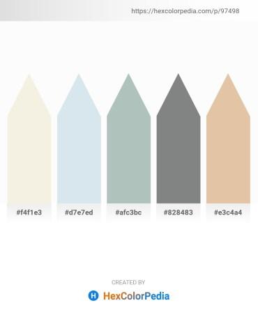 Palette image download - Beige – Light Steel Blue – Dark Sea Green – Slate Gray – Burlywood