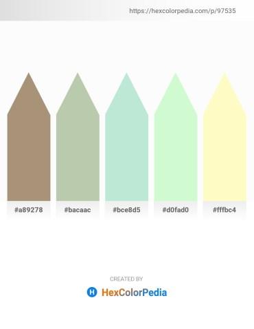 Palette image download - Rosy Brown – Dark Sea Green – Powder Blue – Light Goldenrod Yellow – Lemon Chiffon