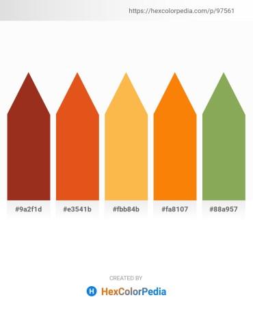 Palette image download - Firebrick – Chocolate – Sandy Brown – Dark Orange – Dark Khaki
