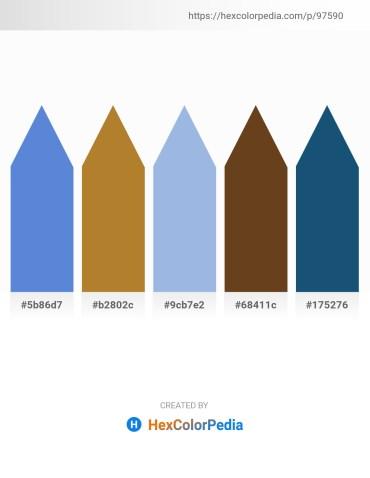 Palette image download - Royal Blue – Peru – Light Blue – Saddle Brown – Steel Blue