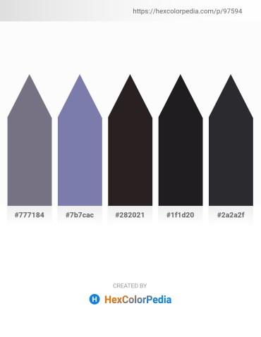 Palette image download - Slate Gray – Light Slate Gray – Black – Light Slate Gray – Dark Slate Gray