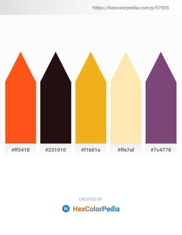 Palette image download - Orange Red – Black – Orange – Moccasin – Saddle Brown