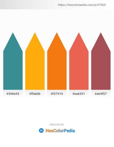 Palette image download - Steel Blue – Orange – Dark Orange – Light Coral – Indian Red