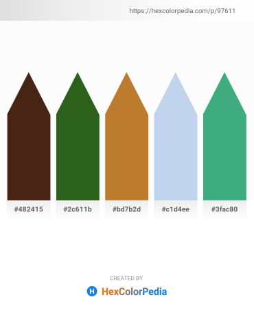 Palette image download - Saddle Brown – Forest Green – Peru – Light Blue – Medium Sea Green