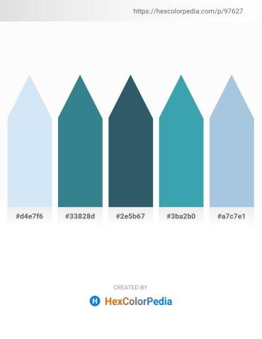 Palette image download - Lavender – Steel Blue – Dark Slate Gray – Steel Blue – Light Blue
