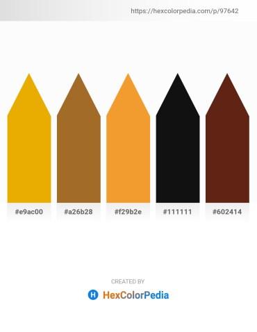 Palette image download - Orange – Sienna – Sandy Brown – Black – Saddle Brown