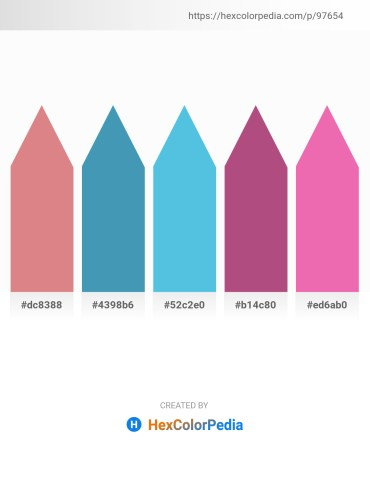 Palette image download - Pale Violet Red – Steel Blue – Turquoise – Indian Red – Light Coral