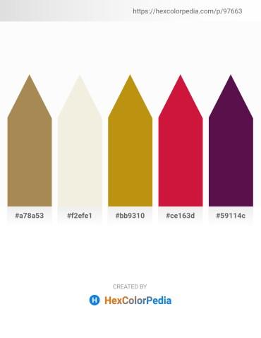 Palette image download - Dark Khaki – Beige – Dark Goldenrod – Crimson – Dim Gray