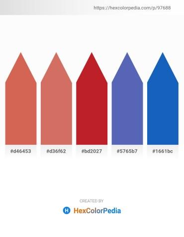 Palette image download - Indian Red – Indian Red – Firebrick – Steel Blue – Royal Blue