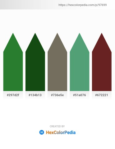 Palette image download - Forest Green – Alice Blue – Dim Gray – Cadet Blue – Brown