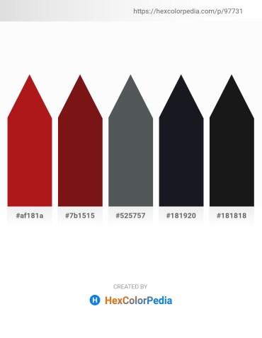 Palette image download - Firebrick – Saddle Brown – Dark Slate Gray – Midnight Blue – Black