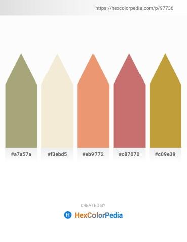 Palette image download - Dark Khaki – Beige – Dark Salmon – Indian Red – Peru