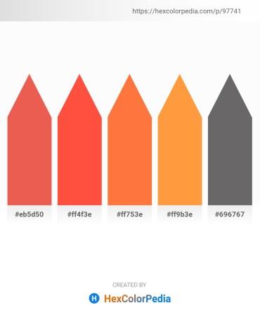 Palette image download - Light Coral – Tomato – Tomato – Coral – Dim Gray