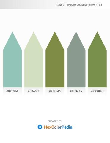 Palette image download - Dark Sea Green – Beige – Dark Olive Green – Dark Sea Green – Dark Olive Green