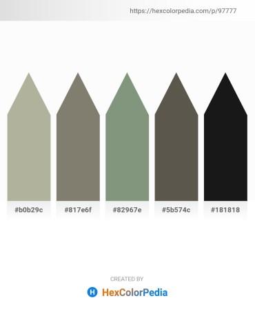 Palette image download - Dark Gray – Gray – Dark Sea Green – Dim Gray – Black