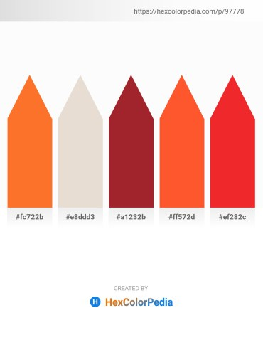 Palette image download - Tomato – Beige – Brown – Tomato – Crimson