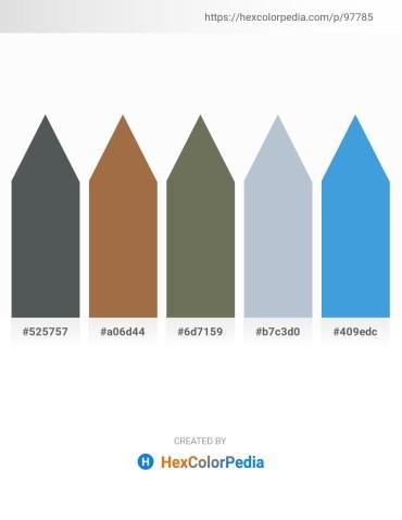Palette image download - Dark Slate Gray – Sienna – Dim Gray – Light Steel Blue – Royal Blue