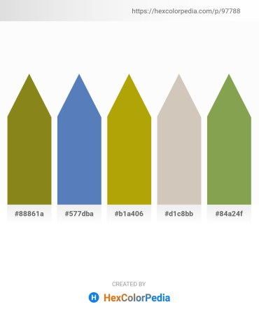 Palette image download - Olive Drab – Steel Blue – Dark Goldenrod – Silver – Dark Khaki