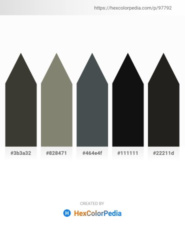 Palette image download - Dim Gray – Gray – Dark Slate Gray – Black – Black