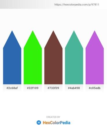 Palette image download - Steel Blue – Lime – Slate Gray – Medium Sea Green – Medium Orchid