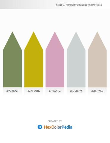 Palette image download - Dark Olive Green – Dark Goldenrod – Plum – Light Steel Blue – Silver