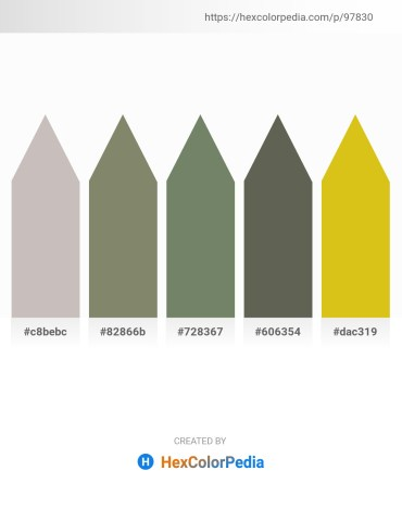 Palette image download - Silver – Gray – Dim Gray – Dim Gray – Goldenrod