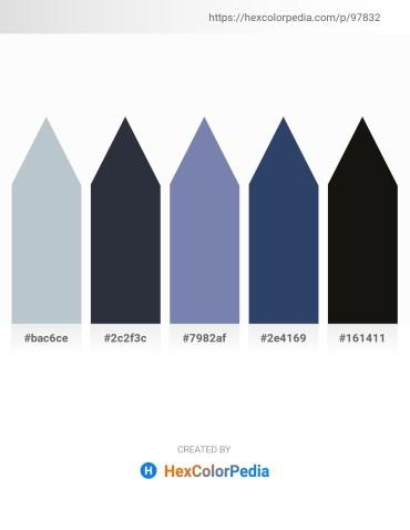 Palette image download - Light Steel Blue – Dark Slate Gray – Light Slate Gray – Dark Slate Blue – Black