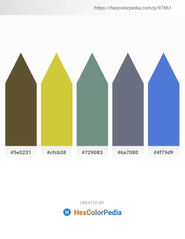 Palette image download - Dark Olive Green – Yellow Green – Slate Gray – Slate Gray – Royal Blue