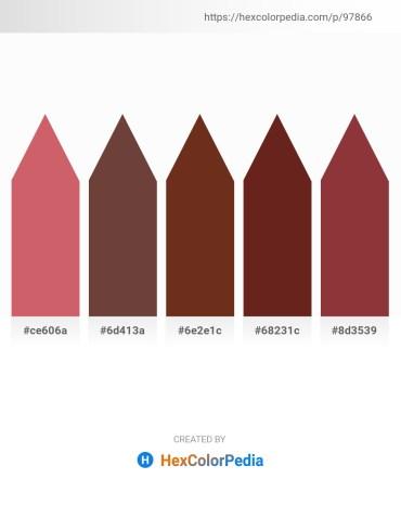 Palette image download - Indian Red – Dim Gray – Saddle Brown – Brown – Sienna