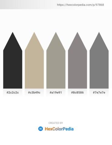 Palette image download - Black – Gray – Dark Gray – Gray – Gray