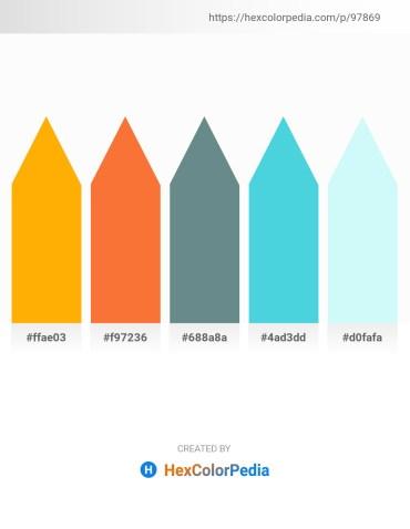 Palette image download - Orange – Tomato – Slate Gray – Turquoise – Pale Turquoise
