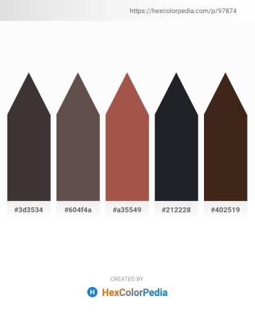 Palette image download - Dim Gray – Dim Gray – Sienna – Dark Slate Gray – Black