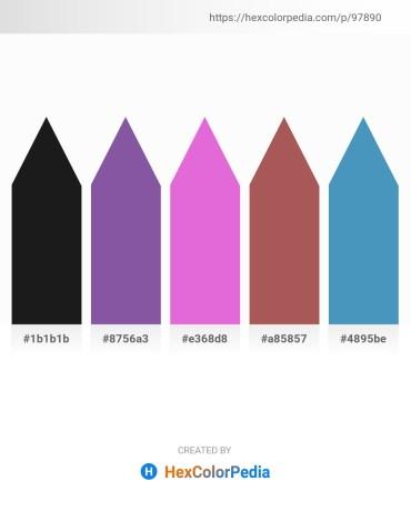 Palette image download - Black – Dark Slate Blue – Orchid – Indian Red – Steel Blue