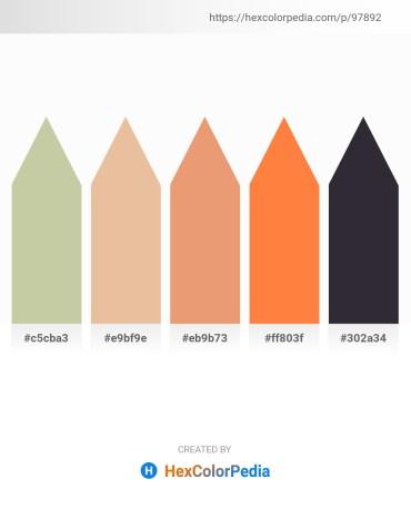 Palette image download - Tan – Burlywood – Dark Salmon – Coral – Yellow Green