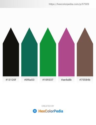 Palette image download - Black – Deep Sky Blue – Forest Green – Midnight Blue – Dim Gray