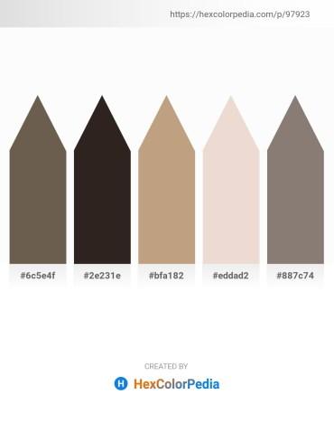 Palette image download - Dim Gray – Black – Rosy Brown – Beige – Gray