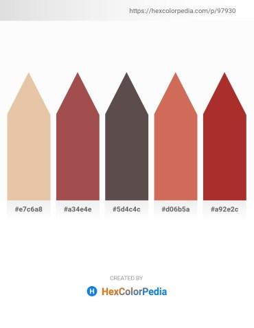 Palette image download - Burlywood – Sienna – Dim Gray – Indian Red – Brown