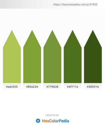 Palette image download - Dark Khaki – Olive Drab – Olive Drab – Olive Drab – Forest Green