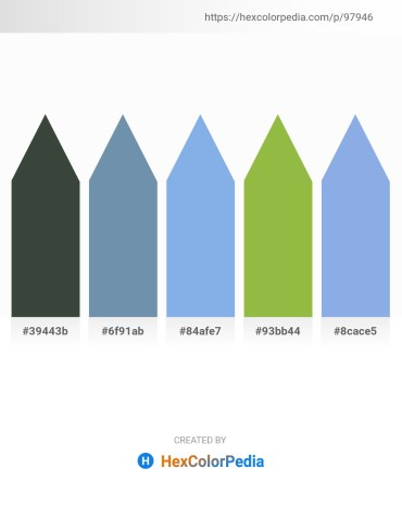 Palette image download - Dark Slate Gray – Cadet Blue – Sky Blue – Yellow Green – Sky Blue