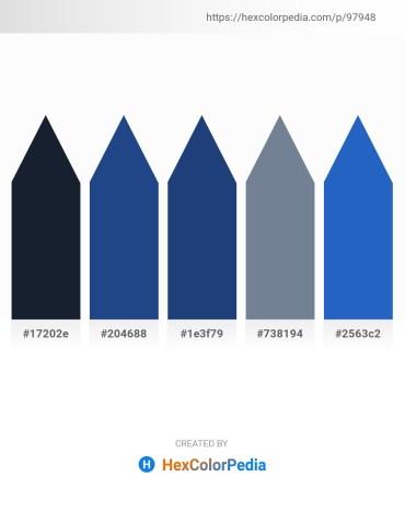 Palette image download - Dark Slate Gray – Midnight Blue – Midnight Blue – Slate Gray – Royal Blue