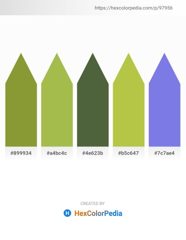 Palette image download - Olive Drab – Dark Khaki – Dark Olive Green – Yellow Green – Medium Purple
