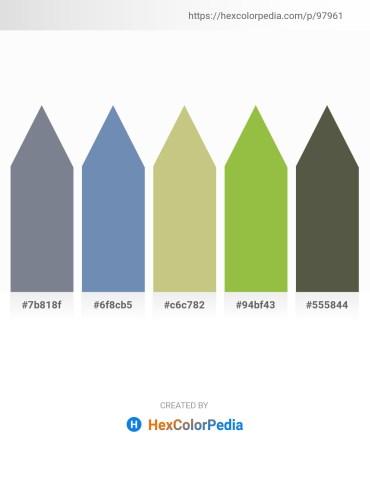 Palette image download - Slate Gray – Cadet Blue – Dark Khaki – Yellow Green – Dark Olive Green