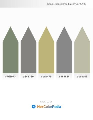 Palette image download - Gray – Gray – Dark Khaki – Gray – Dark Gray