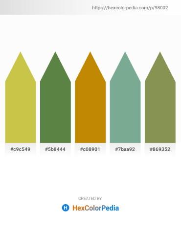 Palette image download - Yellow Green – Dark Olive Green – Dark Goldenrod – Dark Sea Green – Dark Khaki