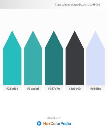 Palette image download - Light Sea Green – Powder Blue – Sea Green – Dark Slate Gray – Lavender