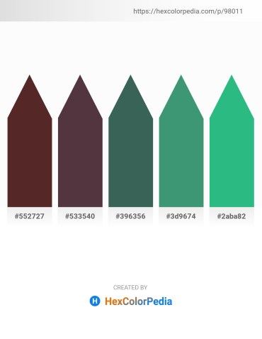 Palette image download - Brown – Dark Salmon – Dark Slate Gray – Medium Sea Green – Light Sea Green